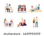 set of young loving couple of... | Shutterstock .eps vector #1649954359