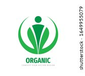 organic product icon. nature... | Shutterstock .eps vector #1649955079
