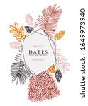 decorative dates frame design.... | Shutterstock .eps vector #1649973940