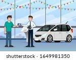 a happy businessman  salesman... | Shutterstock .eps vector #1649981350