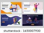 happy couple practicing... | Shutterstock .eps vector #1650007930