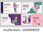 young family couple set. just... | Shutterstock .eps vector #1650008029