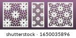 laser cut template set ... | Shutterstock .eps vector #1650035896