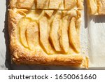 close up of apple pastry portion | Shutterstock . vector #1650061660