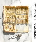 apple pastry top view on white. | Shutterstock . vector #1650061663