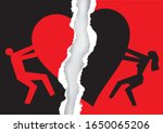 divorced couple  red and black ... | Shutterstock .eps vector #1650065206