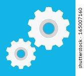 vector gears icon | Shutterstock .eps vector #165007160