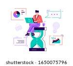 happy handsome office worker...   Shutterstock .eps vector #1650075796