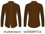 brown long sleeve collared... | Shutterstock .eps vector #1650089716