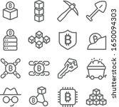 blockchain icons set vector... | Shutterstock .eps vector #1650094303