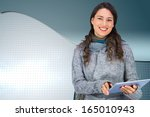 composite image of smiling... | Shutterstock . vector #165010943