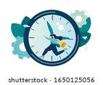 vector illustration  work time... | Shutterstock .eps vector #1650125056
