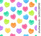 sweethearts candy set flat... | Shutterstock .eps vector #1650128950