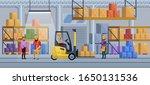 warehouse interior vector... | Shutterstock .eps vector #1650131536