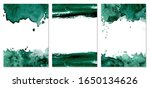 watercolor dark green abstract... | Shutterstock .eps vector #1650134626