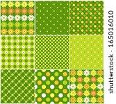 set of abstract vector seamless ... | Shutterstock .eps vector #165016010