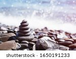 Stone Pebble Tower Balancing O...