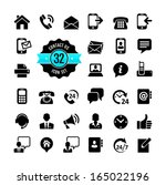 web icon set. contact us  | Shutterstock .eps vector #165022196