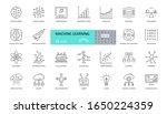 Set Of Machine Learning Icons....