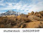 Boulders And Rocks In Desert...