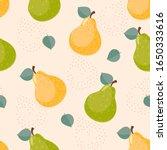 pear seamless pattern. fruit...   Shutterstock .eps vector #1650333616