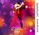 retro dance day or dancing... | Shutterstock .eps vector #1650346990