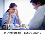 migraine  headache  illness ... | Shutterstock . vector #1650360349