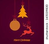 reindeer on the grey background.... | Shutterstock .eps vector #165039830