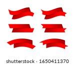 ribbon bow red stripe shape...   Shutterstock .eps vector #1650411370