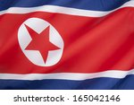 Small photo of The flag of North Korea was adopted on 8 September 1948, as the national flag and ensign of this isolationist state.