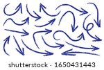 arrows hand drawn doodle vector ... | Shutterstock .eps vector #1650431443