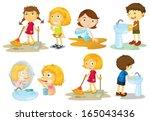 illustration of the kids... | Shutterstock .eps vector #165043436