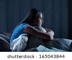 portrait of a young woman... | Shutterstock . vector #165043844
