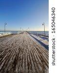 Winter Pier And Walk