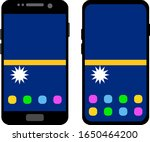two black smartphones with a... | Shutterstock .eps vector #1650464200