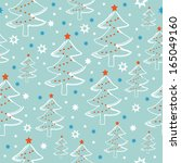 cute seamless pattern with... | Shutterstock .eps vector #165049160