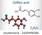 caffeic acid  c9h8o4 molecule.... | Shutterstock .eps vector #1650498286
