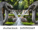 Four Snake Statues In An Activ...