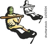 baseball batter. vector... | Shutterstock .eps vector #1650504