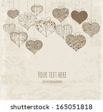 greeting card with ornated... | Shutterstock .eps vector #165051818