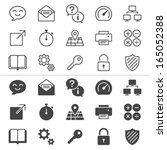 application thin icons ... | Shutterstock .eps vector #165052388