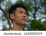 A Portrait Of Asian Thai Man's...