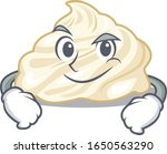 cool whipped cream mascot... | Shutterstock .eps vector #1650563290