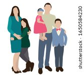 vector  isolated  family  flat... | Shutterstock .eps vector #1650584230