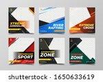 extreme sport square banner... | Shutterstock .eps vector #1650633619