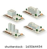 the set of the buildings with... | Shutterstock . vector #165064454