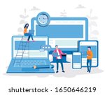 responsive design  people... | Shutterstock .eps vector #1650646219