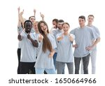 group of happy young people...   Shutterstock . vector #1650664966