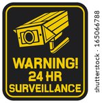 cctv triangle symbols  camera... | Shutterstock . vector #165066788