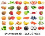collection of various fruits...   Shutterstock . vector #165067586